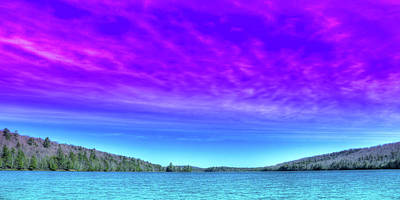 Royalty-Free and Rights-Managed Images - Eighth Lake Panorama by David Patterson
