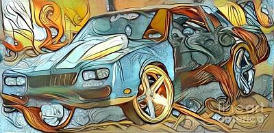 Eighties Classic Car Art Print
