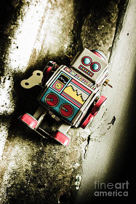 Electronic Photograph - Eighties Cybernetic Droid  by Jorgo Photography - Wall Art Gallery