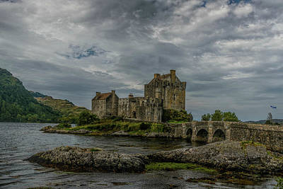 Popstar And Musician Paintings Royalty Free Images - Eilean Donan Castle #5 Royalty-Free Image by Elvis Vaughn