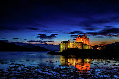 Photograph - Eilean Donan Castle At Night by John Frid