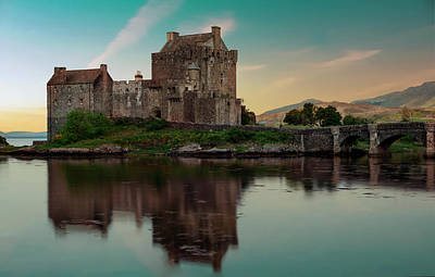 Photograph - Eilean Donan Castle At Sunset by Jaroslaw Blaminsky