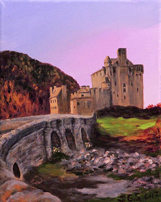 Painting - Eilean Donan Castle by Janet Greer Sammons