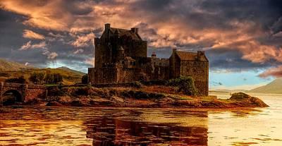 Roaring Red - Eilean Donan Castle by Lilia D