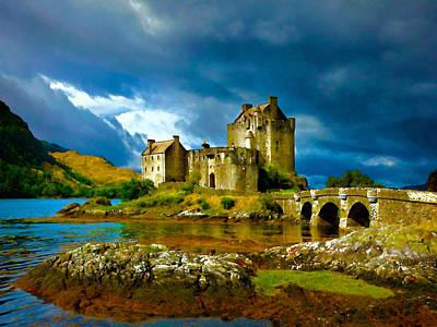 Scotland Painting - Eilean Donan Castle Painting by Frank Paul Lee