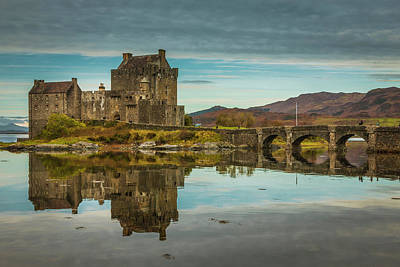 Photograph - Eilean Donan Castle Reflection by Alex Saunders