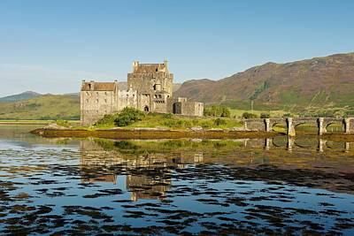 Photograph - Eilean Donan Castle Reflection by Stephen Taylor
