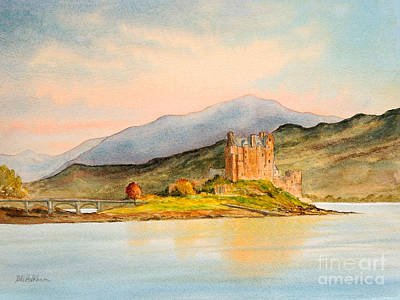 Scotland Painting - Eilean Donan Castle Scotland by Bill Holkham