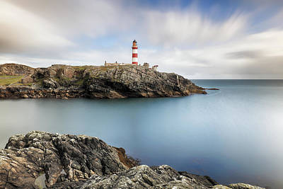 Photograph - Eilean Glas Lighthouse Scotland by Grant Glendinning