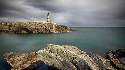 Photograph - Eilean Glas Lighthouse, Western Isles. by Grant Glendinning