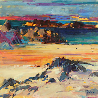 Sandy Cove Painting - Eilean Rabach by Peter Graham