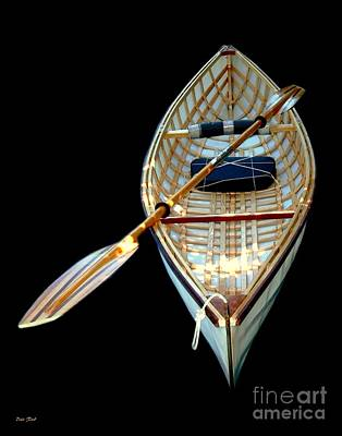 Digital Art - Eileen's Canoe by Dale   Ford