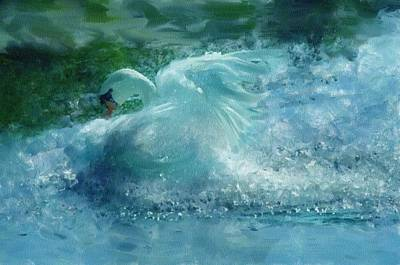 Swan Mixed Media - Ein Schwan - The Swan by Georgiana Romanovna