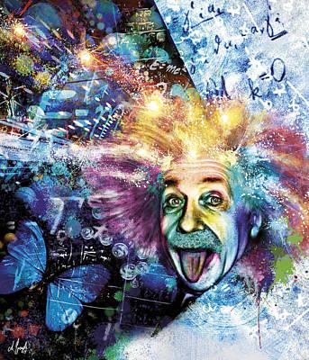 Einstein Digital Art - Einstein by Andreas Spengler