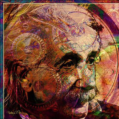 Digital Art - Einstein by Barbara Berney