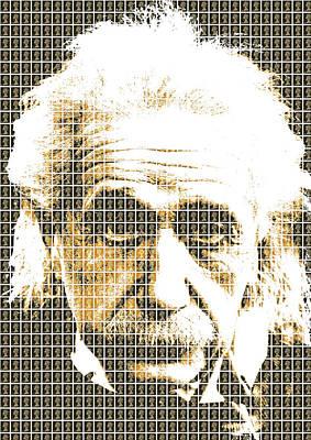 Digital Art - Einstein - Black by Gary Hogben