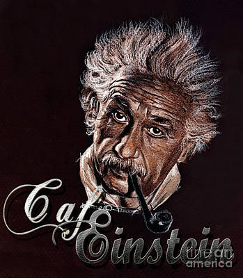 Einstein Drawing - Einstein Cafe Logo by Daliana Pacuraru