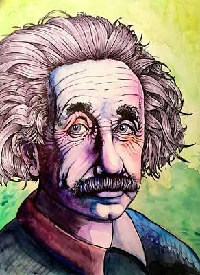 Carolyn Anderson Painting - Einstein by Carolyn Anderson