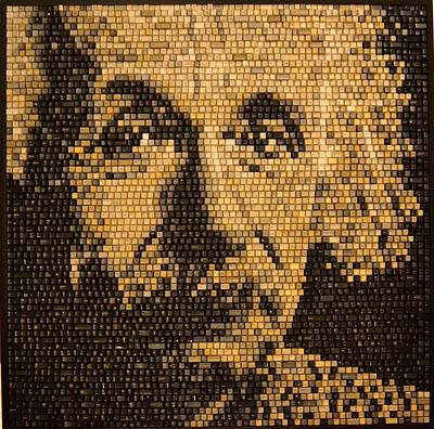 Mixed Media - Einstein by Doug Powell