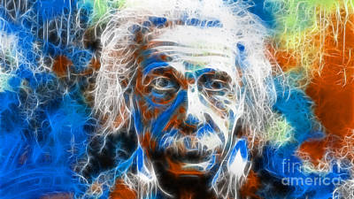 Photograph - Einstein - E-mc2 by Doc Braham