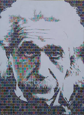 Theory Of Relativity Painting - Einstein by Gary Hogben