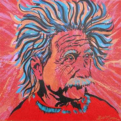 Peoria Artists Painting - Einstein-in The Moment by Bill Manson