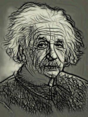Digital Art - Einstein Ink by Daniel Hagerman