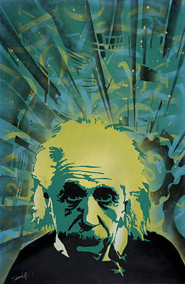 Einstein Art Print by Tai Taeoalii