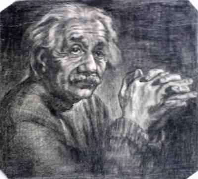 Einstein Drawing - Einstein by Lyudmila Arangelova