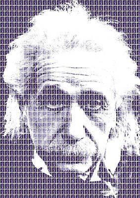 Digital Art - Einstein - Purple by Gary Hogben