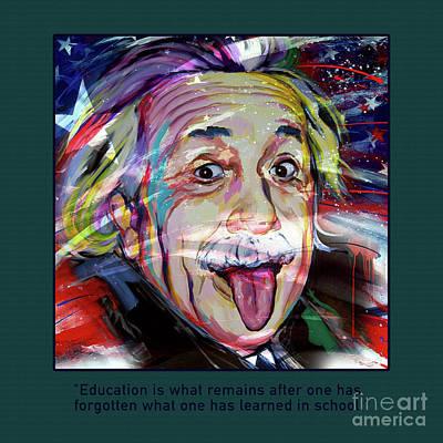 Einstein Quotation 01 Art Print by Gull G