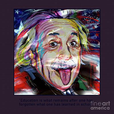 Einstein Quotation Art Print by Gull G