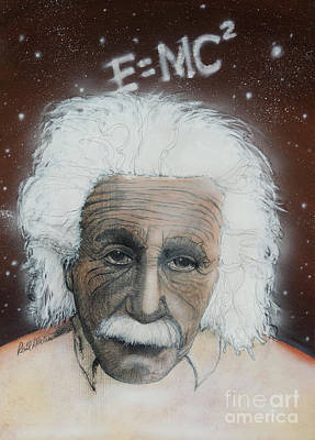 Wall Art - Painting - Einstein by Raul Alsina