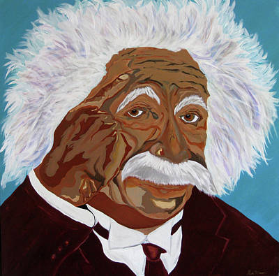 Painting - Einstein-relative Thinking by Bill Manson