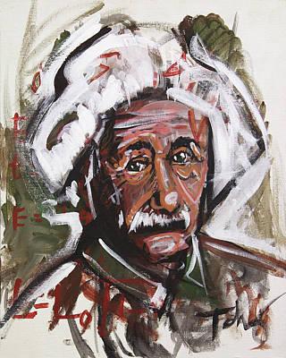 Einstein Art Print by Rob Tokarz