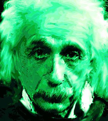 Einstein Watercolor  Original by Enki Art