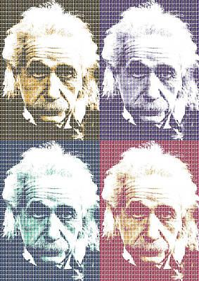 Digital Art - Einstein X 4 by Gary Hogben