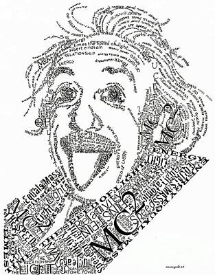 Einsteined. Art Print