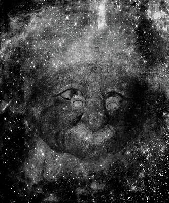 Photograph - Einsteins Cosmic Travels Bw by Lesa Fine