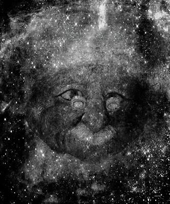Photograph - Einsteins Cosmic Travels Bw by Lesa Fine