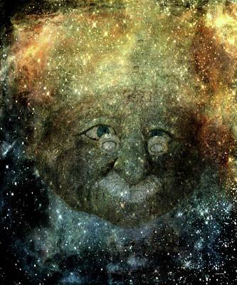 Einsteins Cosmic Travels Art Print