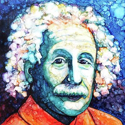 Painting - Einstein's Creative Genius by Jennifer Allison