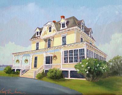 Eisenhower Painting - Eisenhower House Newport Ri by Betty Ann Morris