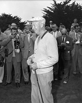 Photograph - Eisenhower Meets Press by Underwood Archives