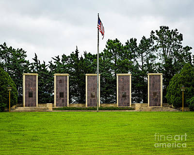 Photograph - Eisenhower Museum W W I I Memorial by Jon Burch Photography
