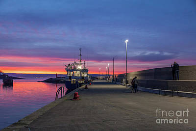 Photograph - Eisenhower Pier Sunset by Jim Orr