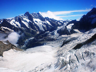 Jungfraujoch Photograph - Eismeer Switzerland by Leena Kewlani