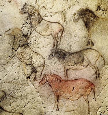 Painting - Ekain Cave Horses by Weston Westmoreland