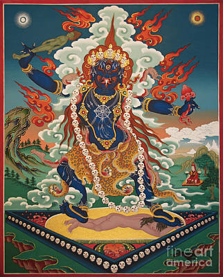 Thangka Painting - Ekajati by Sergey Noskov