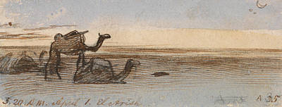 Drawing - El Areesh by Edward Lear
